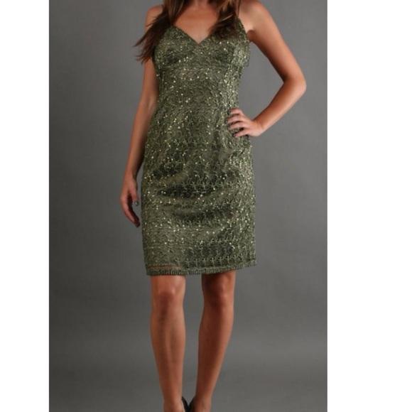 f46c25e2 Adrianna Papell Dresses   Olive Green Sequin Dress   Poshmark